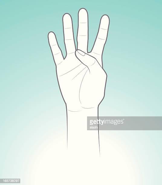 illustrations, cliparts, dessins animés et icônes de comptant quatre mains - quatre personnes