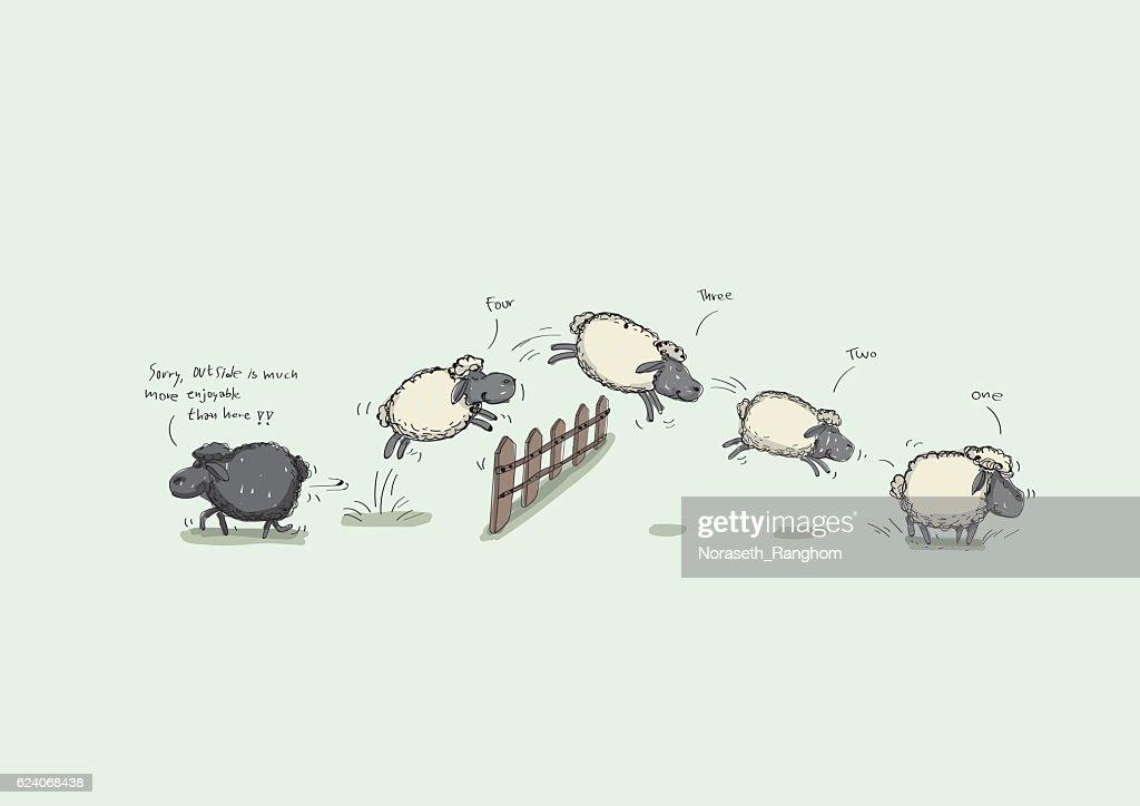 Counting Sheep Jumping