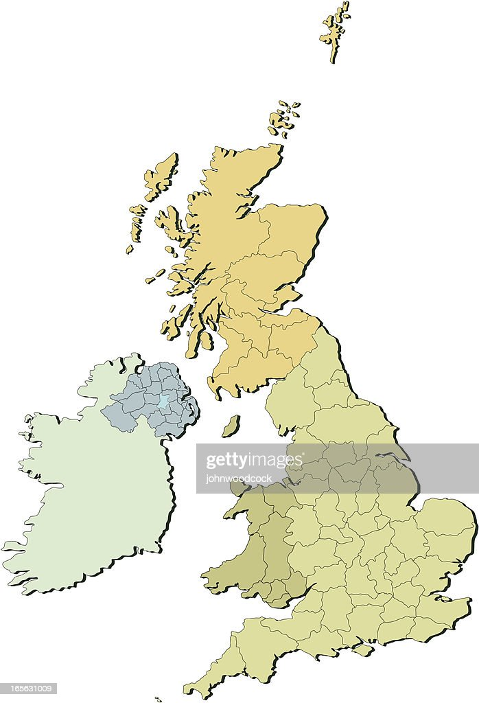 UK countries and counties two : stock illustration