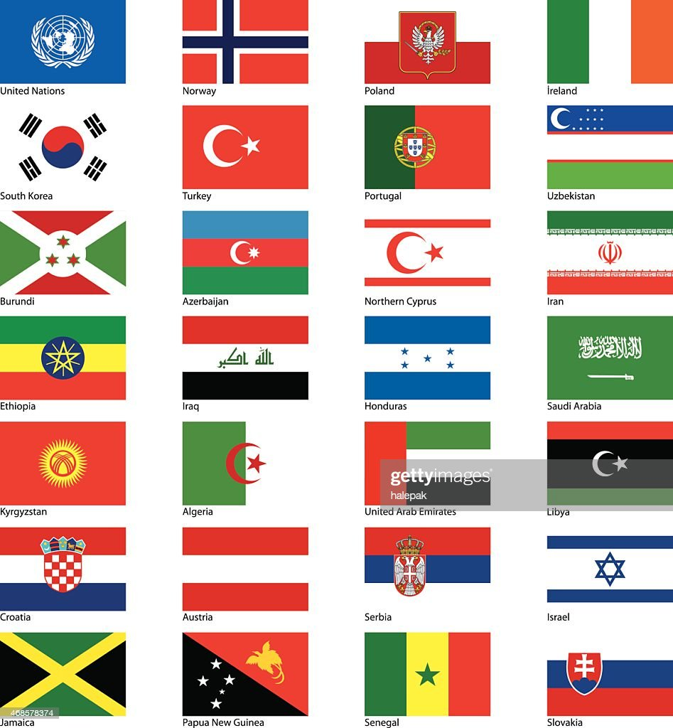 Countries flags serie