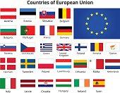 countries of european union flags