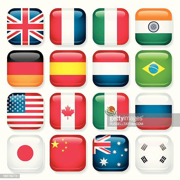 Country app buttons