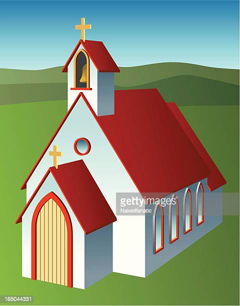 country chapel - lancet arch stock illustrations