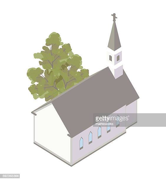 country church illustration - mathisworks architecture stock illustrations