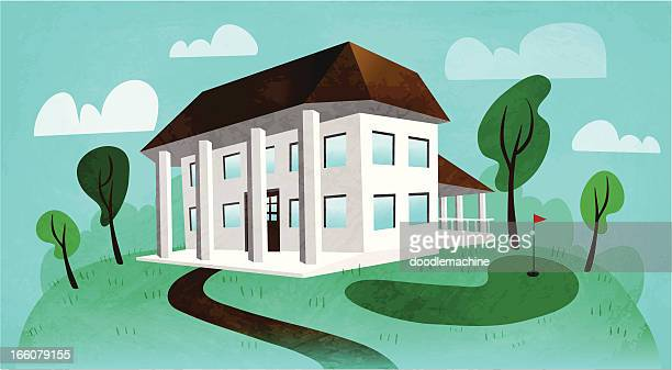 country club - country club stock illustrations, clip art, cartoons, & icons