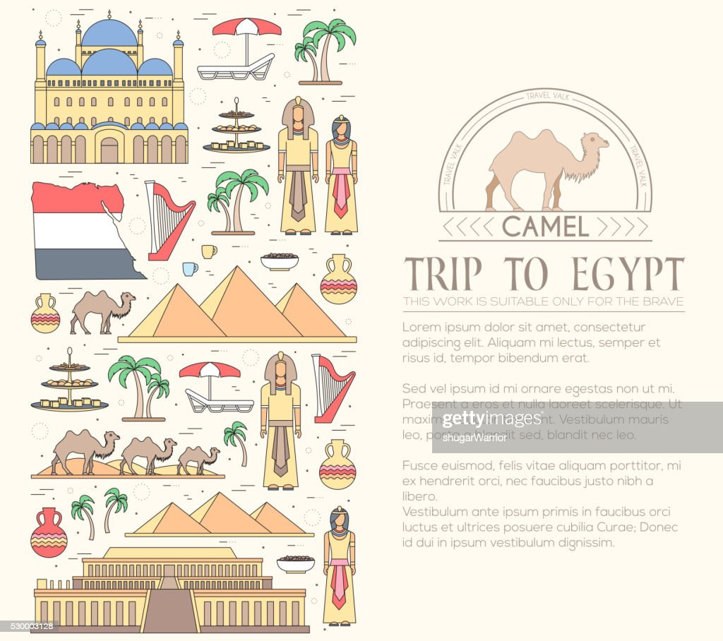 Country Egypt travel vacation guide of goods, places and features