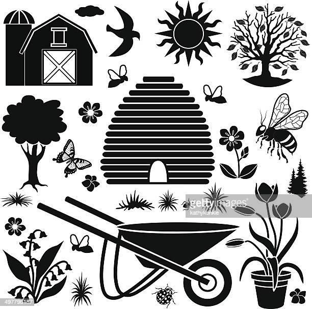 País Jardim elementos de design de