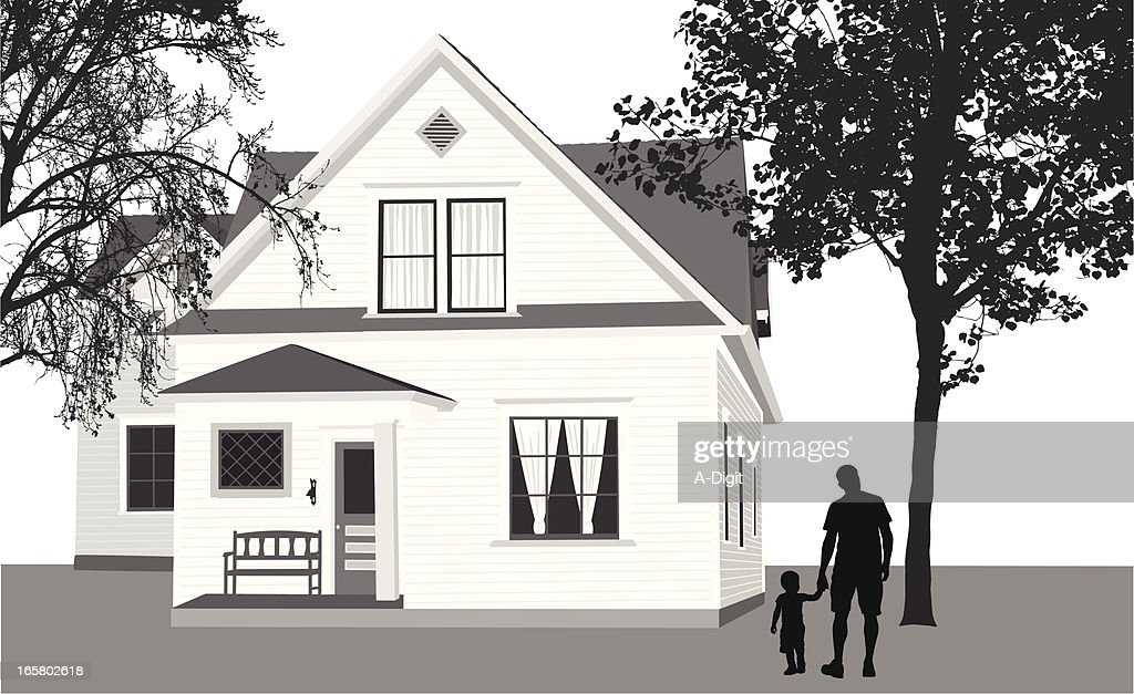 Country House Vector Silhouette