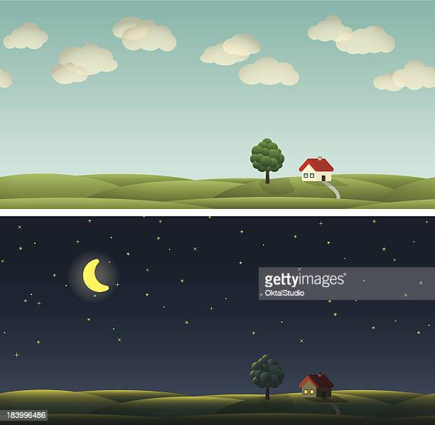 country paysage - day stock illustrations, clip art, cartoons, & icons
