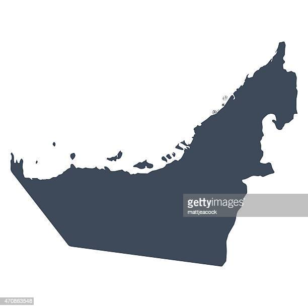 uae country map - map stock illustrations
