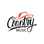 Country music hand lettering