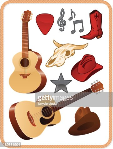 Country Music Pack stock illustration - Getty Images