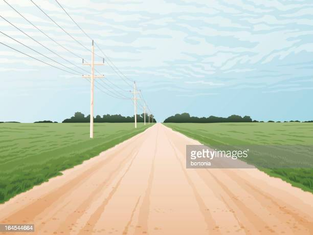 country road - prairie stock illustrations, clip art, cartoons, & icons