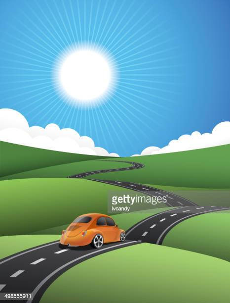 country road - country road stock illustrations