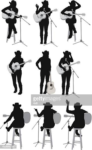 country singer performing - microphone stand stock illustrations