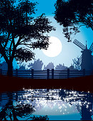 Countryside at night
