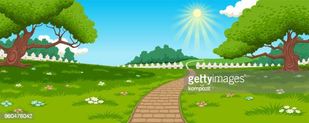 Countryside - meadow and path background
