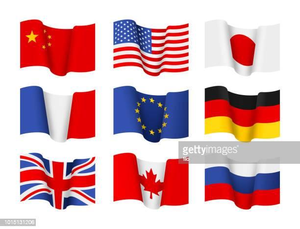 county-flags - russische flagge stock-grafiken, -clipart, -cartoons und -symbole