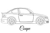Coupe car body type outline