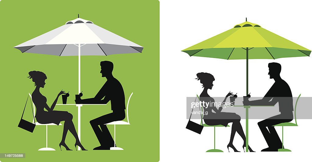 Couple at outdoor cafe