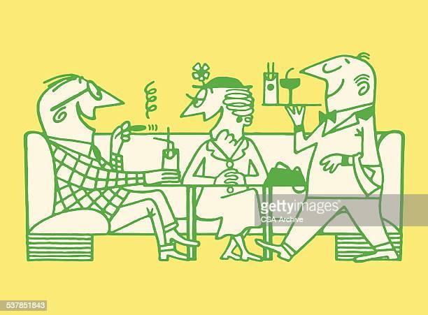 Paar in Taverne/Bar