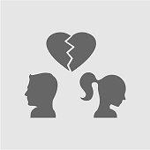 Couple broken heart
