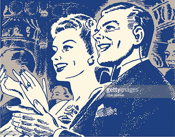 couple clapping - applauding stock illustrations, clip art, cartoons, & icons