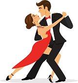 Couple dancing tango