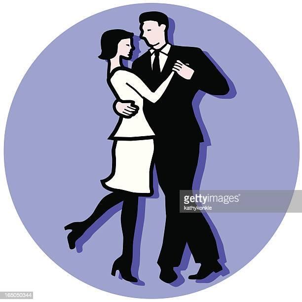 ilustraciones, imágenes clip art, dibujos animados e iconos de stock de pareja de baile - bailar un vals