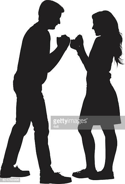 couple fighting - boyfriend stock illustrations, clip art, cartoons, & icons