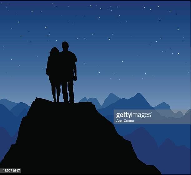 Couple gazing at the stars