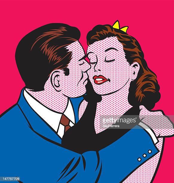 couple giving a kiss