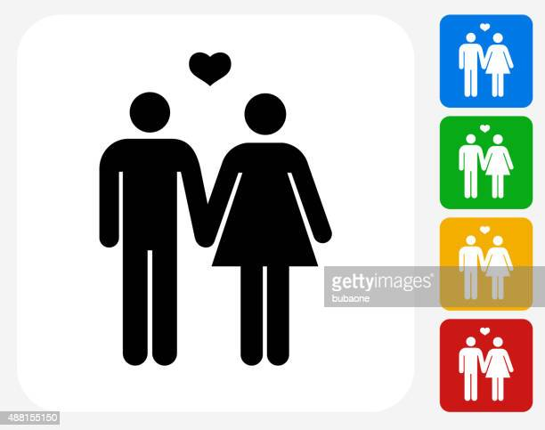 Couple Icon Flat Graphic Design