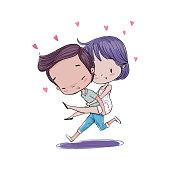 Couple in love valentine.