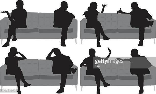 Couple in relationship difficulties