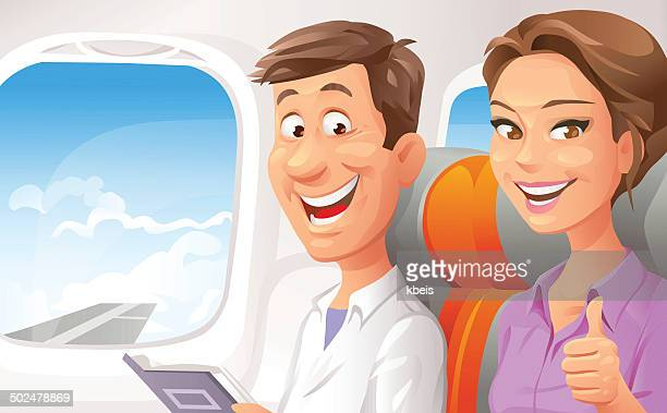 Couple sur un avion