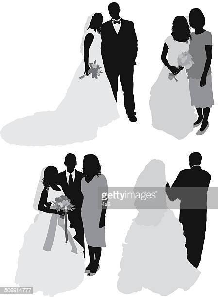 Paar auf Hochzeit