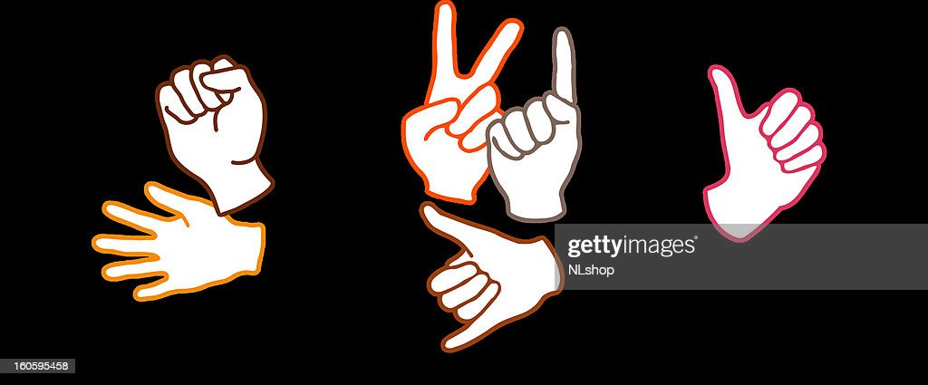 couple talking with hand signs