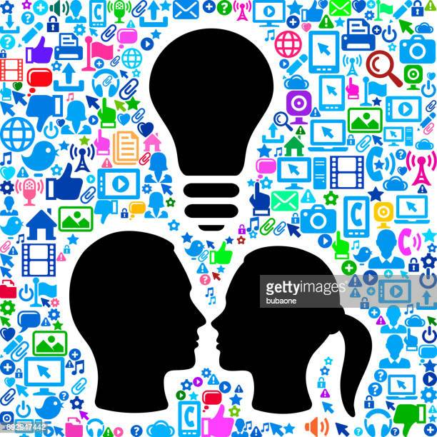 Couple Technology Web Vector Background Pattern
