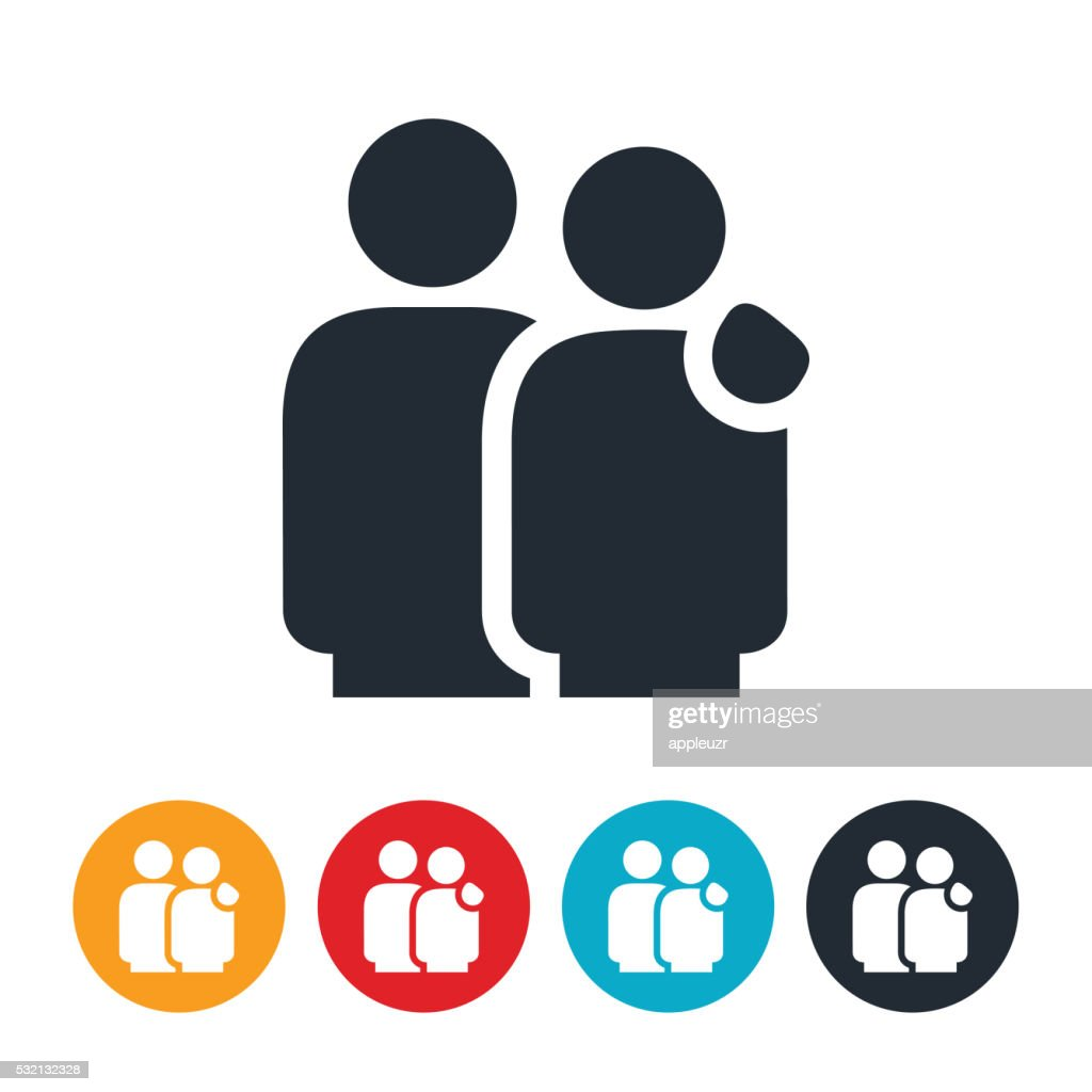Couple With Arm On Shoulder Icon