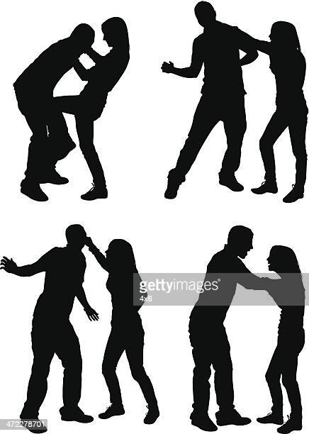 couples arguing and fighting - slapping stock illustrations, clip art, cartoons, & icons