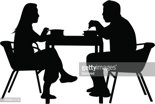 Image result for silhouette couple eating food