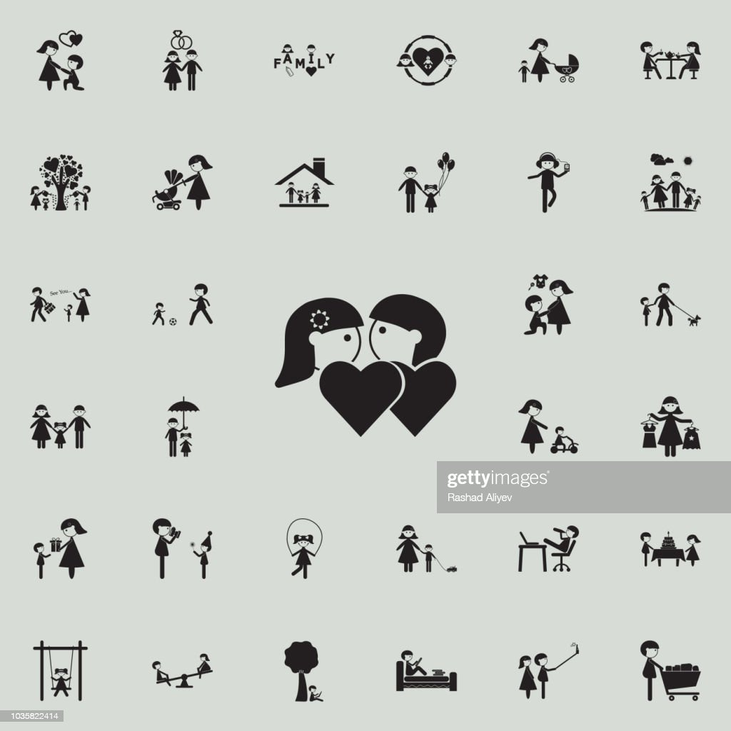couples in loveicon. Family icons universal set for web and mobile