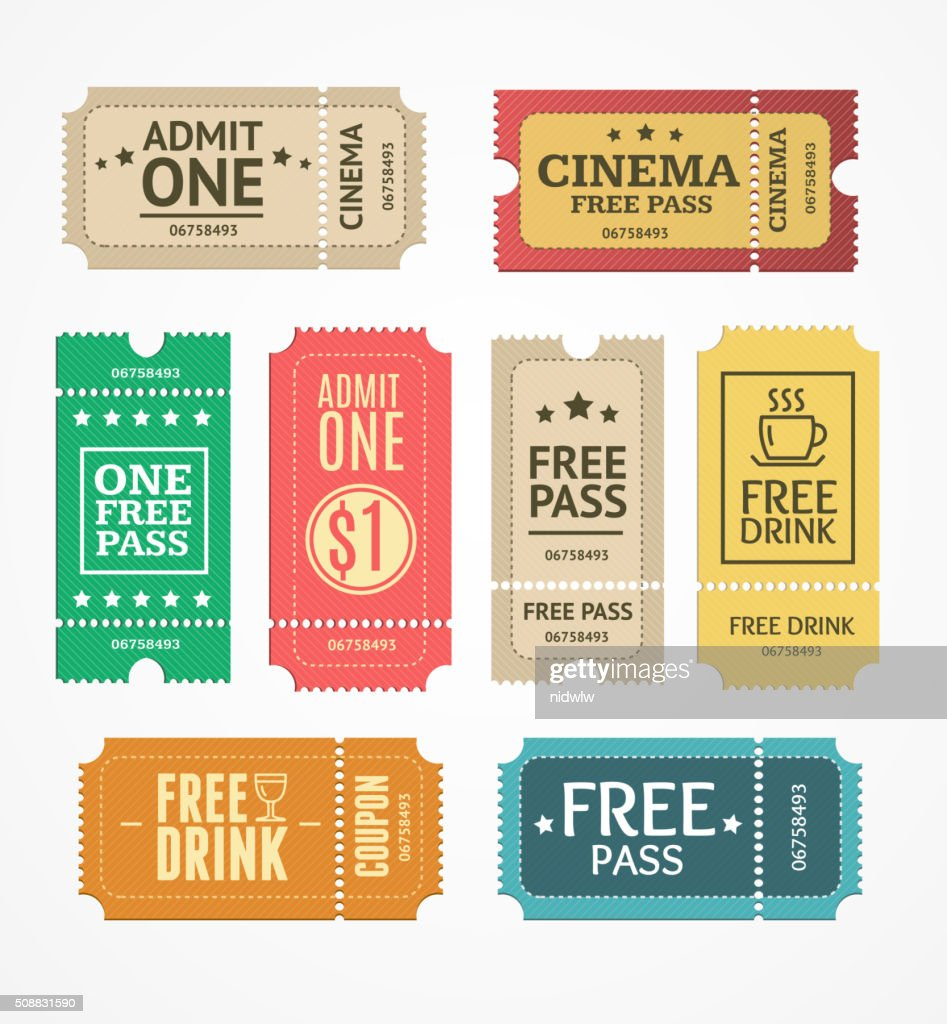 Coupon and Tickets Set. Vector