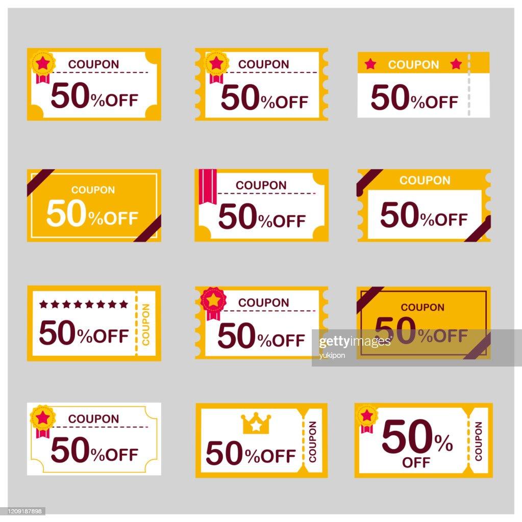 coupon voucher discount ticket vector : stock illustration