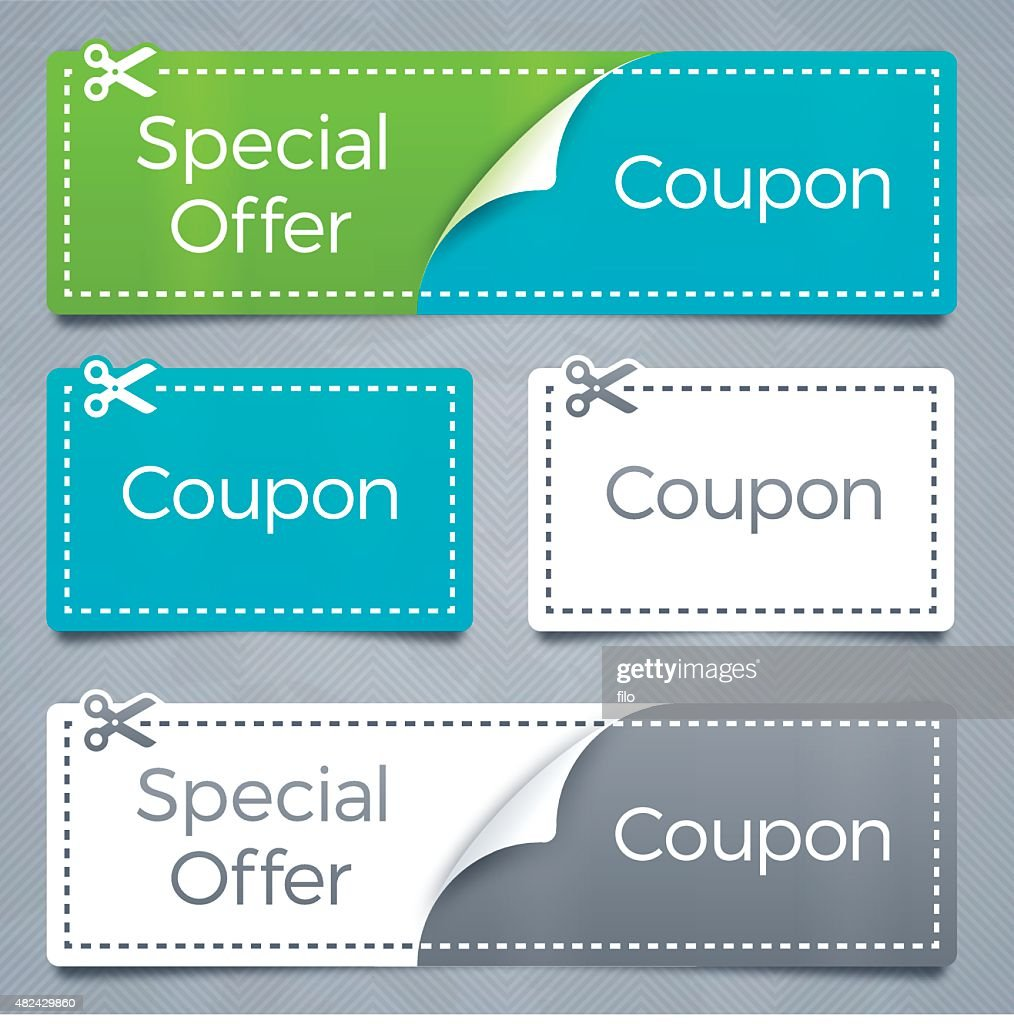 Coupons and Special Offer Savings : stock illustration