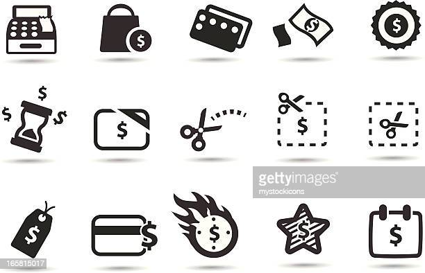 coupons, deals and saving icons - incentive stock illustrations, clip art, cartoons, & icons