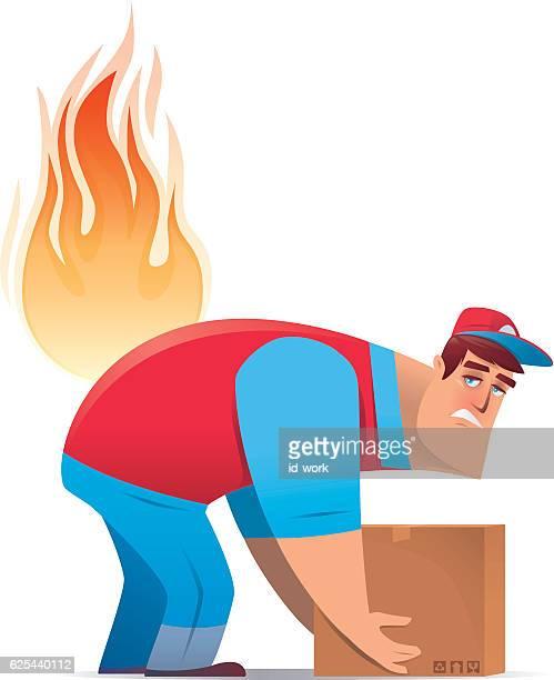 courier having backache