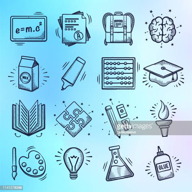 illustrations, cliparts, dessins animés et icônes de cours & méthodes d'enseignement doodle style vector icon set - collègue de bureau