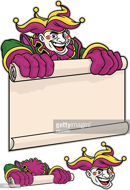 court jester - jester's hat stock illustrations, clip art, cartoons, & icons